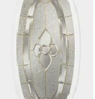 steel door with oval glass insert