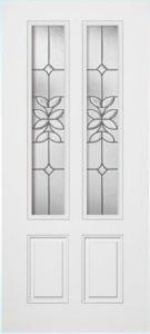 steel door with double glass insert