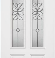 steel door with double glass insert