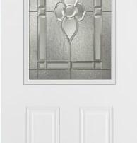 steel door with glass insert