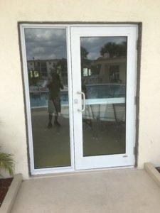Door with side window after
