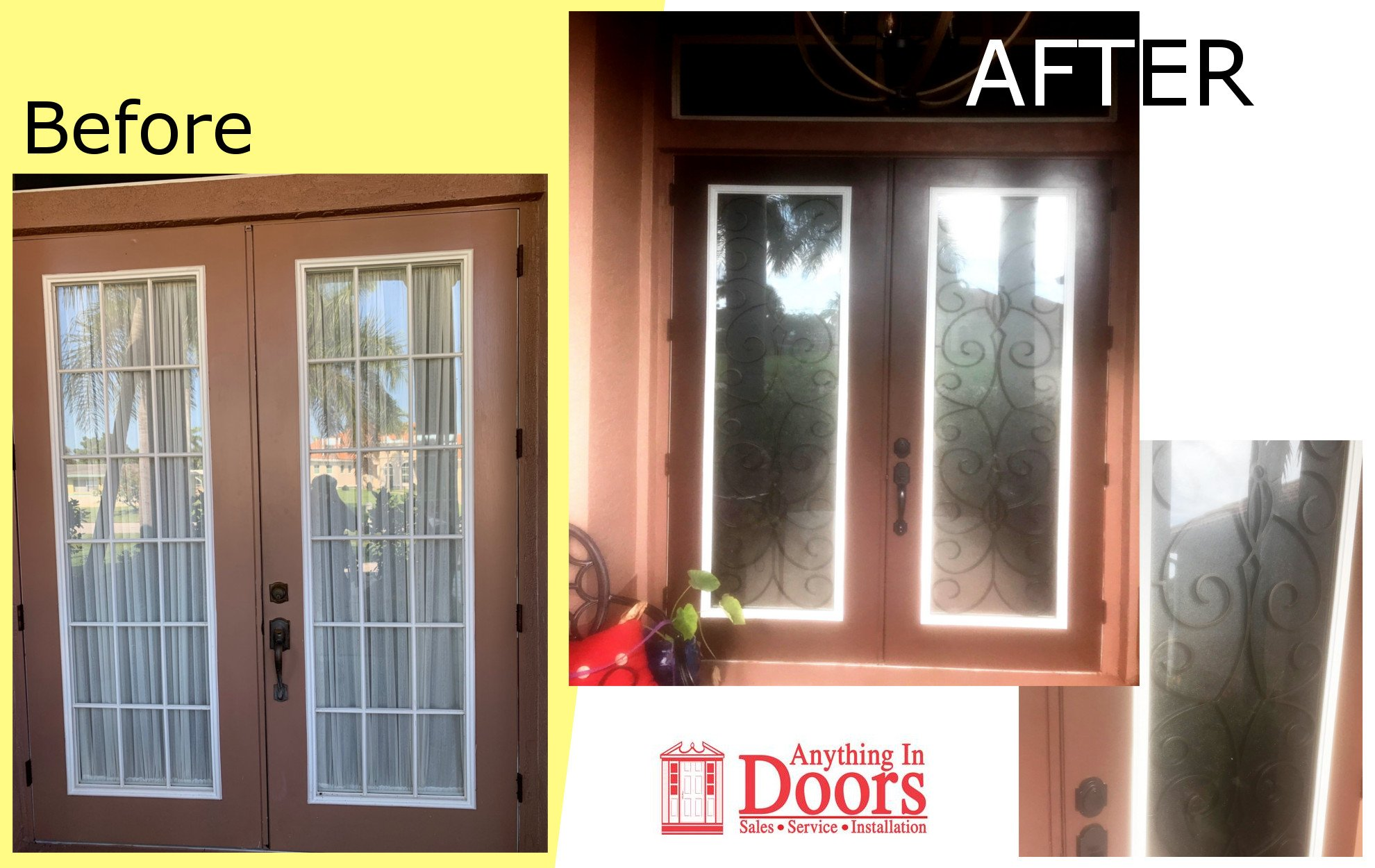 Custom Doors and Windows Before and After